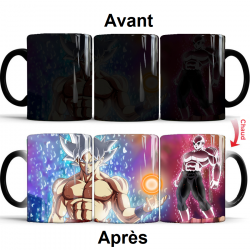 Mug thermoréactif Dragon Ball Super Sangoku Ultra instinct vs Jiren
