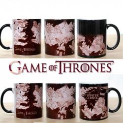 Mug thermoréactif Game of Thrones Carte du monde connu