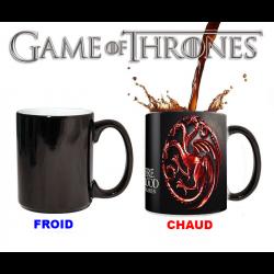 Mug qui change de couleur Game of Thrones Emblème Maison Targaryen rouge
