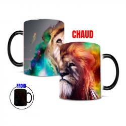 Mug thermoreactif Lion artistique