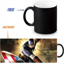 Mug thermoréactif Captain America - Plusieurs designs