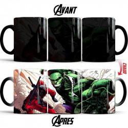Mug thermoréactif Deadpool versus Hulk