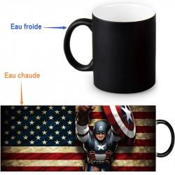 Mug qui change de couleur Capitaine América