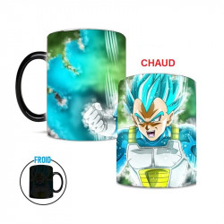 Mug qui change de couleur super sayan bleu