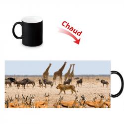 Mug thermoreactif savane africaine