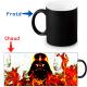 Mug thermoréactif magique Dark Vador et le feu