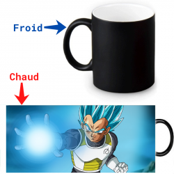 Mug magique Dragon Ball Super Vegeta Super Saiyan Bleu