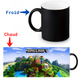 Mug thermoréactif Minecraft