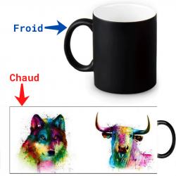 Mug magique - Loup et taureau artistique