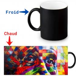 Mug magique Einstein artistique