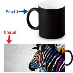 Mug thermoréactif zèbre artistique