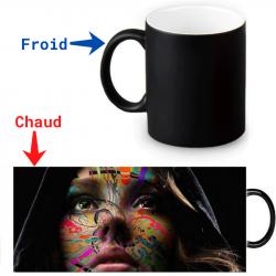 Mug thermoreactif Portrait de femme artistique