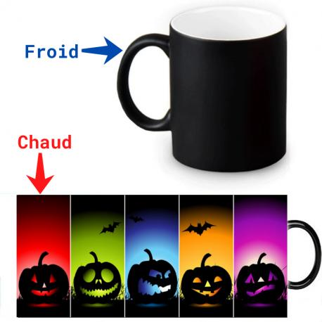Mug thermoreactif  fête Halloween