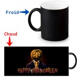 Mug thermoreactif  Citrouille Halloween maléfique