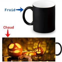 Mug thermoreactif  Citrouilles d'Halloween