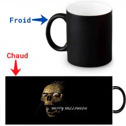Mug thermoreactif  Halloween crâne effrayant