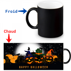 Mug thermoreactif  Happy Halloween