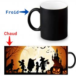 Mug thermoreactif Halloween château