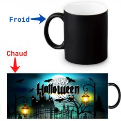 Mug thermoreactif  Halloween L'heure a sonné