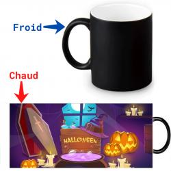 Mug thermoréactif  Halloween style bande dessinée