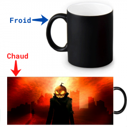 Mug thermoreactif  Halloween Homme citrouille démoniaque