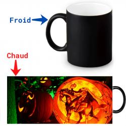 Mug thermoreactif  Cavalier halloween sans tête