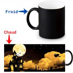 Mug thermoreactif  Halloween Sorcière volante