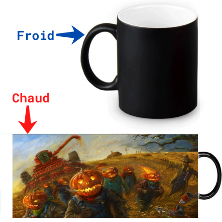 Mug magique peinture épouvantails Halloween