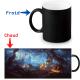 Mug thermoreactif  Cimetière Halloween