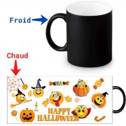 Mug thermoreactif Smileys Halloween