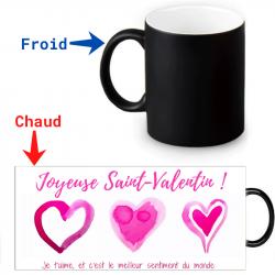 Mug qui change de couleur Joyeuse  Saint-valentin