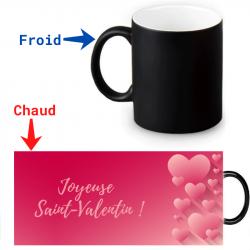 Mug thermochromique pour la Saint-Valentin