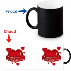 Mug qui change de couleur fête de la Saint-Valentin