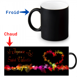 Mug thermochromique fête de la Saint-Valentin