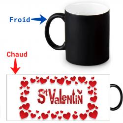 Mug thermoréactif - Voeux Saint-Valentin