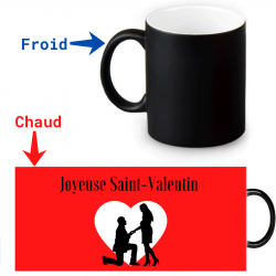 Mug thermoréactif - Demande en mariage Saint-Valentin