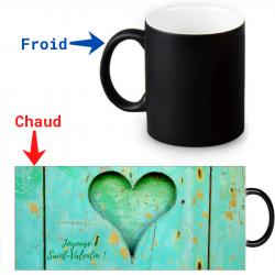 Mug thermoréactif - Saint Valentin vert