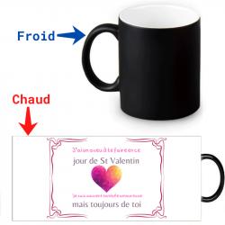 Mug thermoréactif Saint Valentin Toujours amoureuse de toi