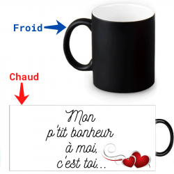 Mug Thermoréactif - Message d'amour